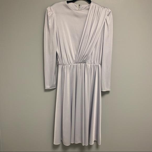 Vintage 1970s Women's Sash Long Sleeve Dress Large